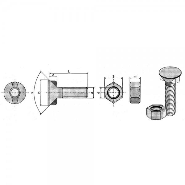 Boulon de charrue ISO5713