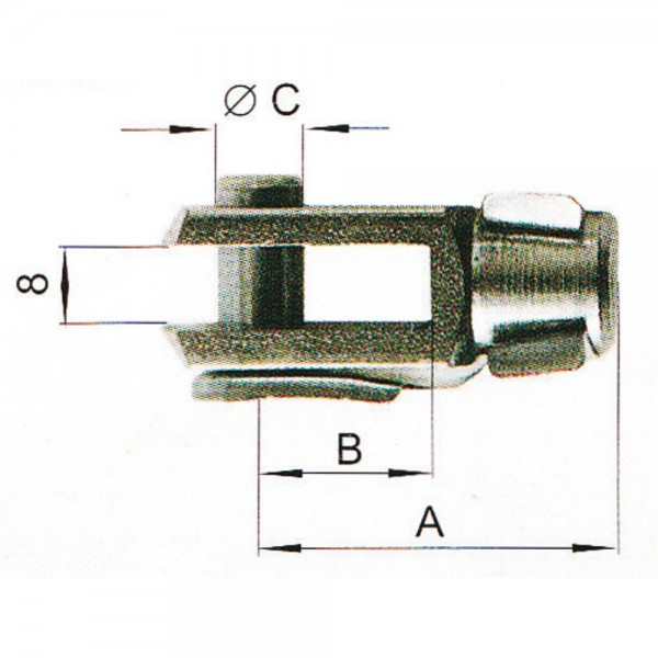b) Gabelkopf M8