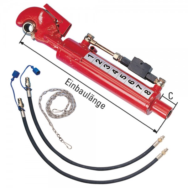 2-Hydraulikschlauch//Sperrblock Hydraulischer Oberlenker Kat2 mit Fanghaken