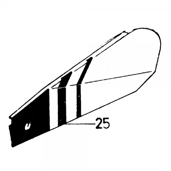 Schwadblech rechts