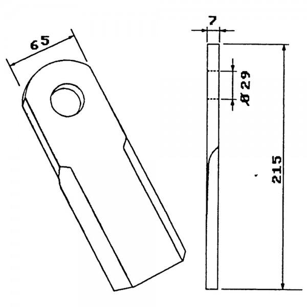 Couteau broyeur de paille pour Taarup, Ugerlose