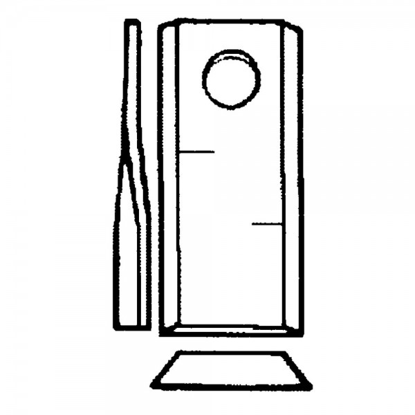 Couteau rotatif radura convient à Deutz-Fahr, Pöttinger