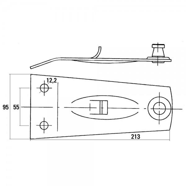 Fixation de couteau rotatif convient à DEUTZ-FAHR, PÖTTINGER